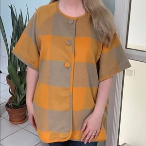 NWOT BCBGeneration Wool Buttoned Cape / Tunic